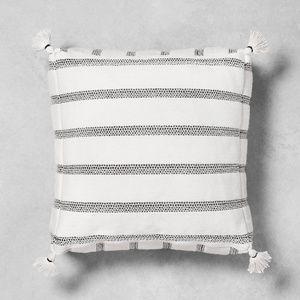 Hearth & Hand Outdoor floor cushion black white